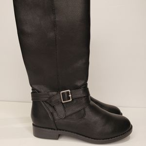 Girld Black Tall Boots